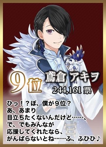 第9位 鳶倉アキヲ 244,161票